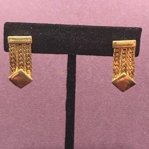 Gold tone post earrings.  2/$10 Sale